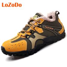 LoZoDo Outdoor Winter Hiking Shoes for Men Athletic Sport Boots Mens Trekking Climbing Shoe Boot Warm Hunting Climbing Shoes