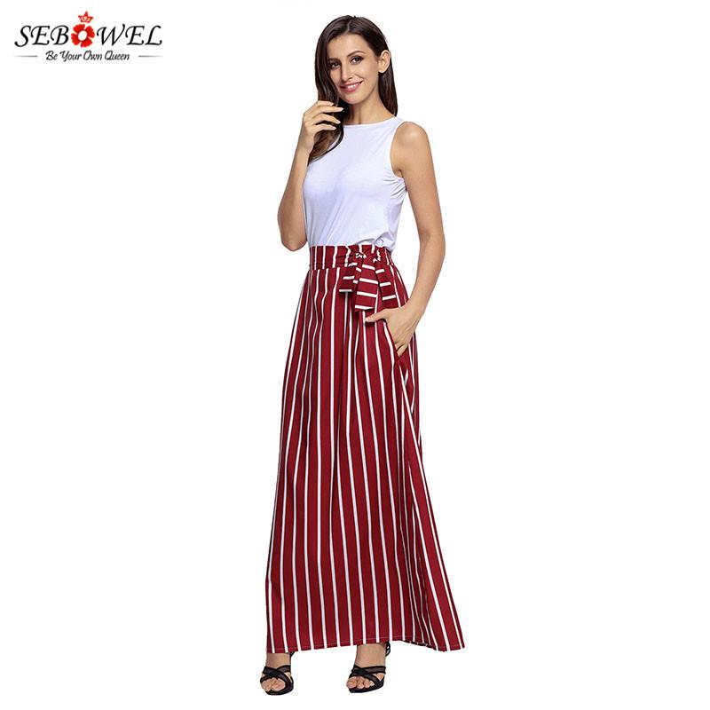 Burgundy-Striped-Maxi-Skirt-LC65037-3-5