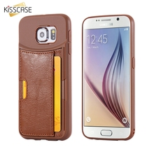 Retro Case for Samsung S6 S6 Edge Soft Brown Card Holder Protective Back Cover for Galaxy S6 Edge Coque Fundas Phone Accessories