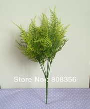 one 36cm Long Artificial Greenery Simulation Asparagus Green Grass Corsage Home Wedding Decoration