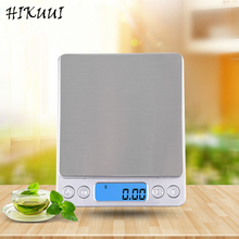 3kg x 0.1g Kitchen Digital Scale Silver Stainless Steel Pannel Electronic & LCD Display 6 Units Mode with 2 Trays(China)