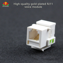 5pcs/lot HQ Tool-free telephone module RJ11 CAT3 voice module Gold-plated with dust cover Cable adapter Keystone Jack