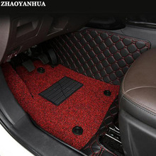 ZHAOYANHUA car floor mats for Volkswagen Beetle Eos Golf Jetta Passat sharan leather Anti-slip car-styling carpet liner(China)