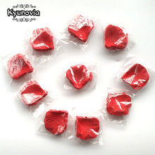 Kyunovia 1000pcs Fake Rose Petals Flower Girl Toss Silk Petal Artificial Petals For Wedding Confetti Party Event Decoration FR03