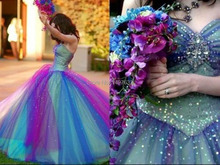 Rainbow Quinceanera Dresses Tulle Beading Ball Gown Colorful Vestido De Debutante Sweetheart Off the Shoulder Girls Party Gowns