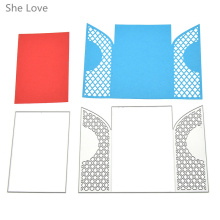 She Love 2pcs Door Frame Template Metal Cutting Dies Embossing Folder Stencil DIY Scrapbooking Album Paper Card(China)