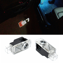 2 x Car door light ghost shadow light logo projector FOR AUDI RS RS3 RS4 RS5 RS6 S4 S5 S6 S7 S8 A1 A3 A4 A5 80 TT A6 A8 Q3 Q5 Q7