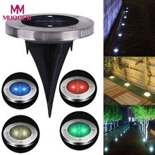 Solar 2 LED Outdoor Light Spot Lamp Yard Garden Lawn Landscape Waterproof birthday party decorations kids Christmas Decoration(China)