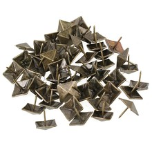 BQLZR 50pcs Upholstery Tack Decorative Nail Furniture Square Rivet Bronze 19x21mm