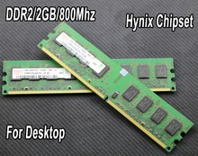 Used original for Hynix chipset 2GB DDR2 PC2-6400 800MHz 667Mhz Desktop PC DIMM Memory RAM 240 pins For intel for amd 2g 800 667