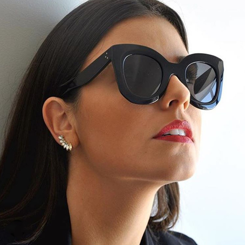 Luxury Cat Eye Sunglasses Women Brand Designer Retro Vintage Sun Glasses Women Female Ladies Sunglass Mirror Lunettes de soleil (1)