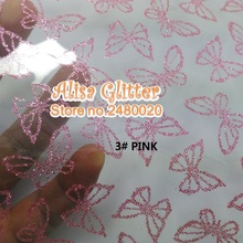 2PCS SIZE 21X30CM Transparent PVC with Printed Gold Butterfly Faux Leather Fabric For making Bows DIY Accessories G45(China)