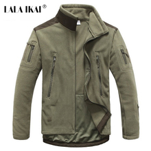 LALA IKAI Men Jacket Softshell Windstopper Men Fleece Jacket Thick Outdoor Hot Men Tactical Military Hiking Jacket HMJ0026-5