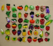 free shiping 50pcs/lot 50 style fruit greenstuff  Fridge magnets   Refrigerator magnet wholesale  Dialog Box Magnet