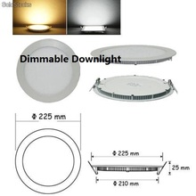10pcs/lot Dimmable Ultra thin 3W/4W/ 6W / 9W / 12W / 15W/ 25W LED Ceiling Recessed Grid Downlight / Slim Round Panel Light