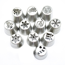 Hot Sale Icing Piping Tips  Christmas Tree Special Russian Leaf Nozzle Bakeware Cupcake Cake Decorating Pastry Baking Tools