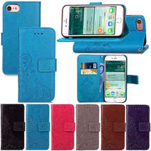 Buy Phone Cases iPhone 7 Case PU Leather Wallet Cover Apple iPhone7 Flip Cases Book Style Mobile Phone Bag Card Slots Holder for $3.98 in AliExpress store