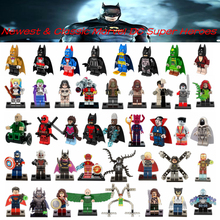Single Sale DC Marvel Batman Avengers Super Heroes Loki Thor Deadpool Harley Quinn Collection Model & Building Toy For Children(China (Mainland))