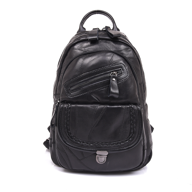 3in1 Unique Design Genuine Leather Womens Backpack High Quality Female Thread Daypack Shoulder Bag New Arrival Menssenger Bag<br>
