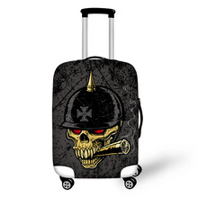 Prevent the impact to prevent scratches Horror Skull Terror pattern luggage case travel must be soft and durable non-slip