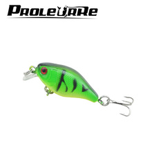 Proleurre 1pcs Crankbait top water Wobblers Swim Fish Fishing Lure 4.5cm 4.4g Floating Minnow Lure Hard bait Fishing Tackle(China)