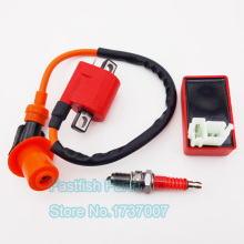 Racing Ignition Coil & 6 pin AC CDI & Spark Plug D8TC  For CG 125cc 150cc 200c 250cc ATV Quad Dirt Bike Motorcycle Motocross