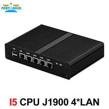 Partaker I5 Quad Core J1900 Industrial 4 LAN Mini PC Router Server with Black Case VGA Display Port(China)