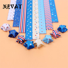 152 pcs/lot stripe origami paper lucky star 2017 new arrival  new year gift handmade star gift 8 color/lot printer origami paper