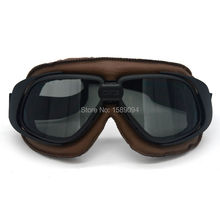 Motorcross Sunglasses Vintage Motorcycle Helmet Goggles Scooter Glasses Aviator Pilot Cruiser Steampunk Multicolor(China)