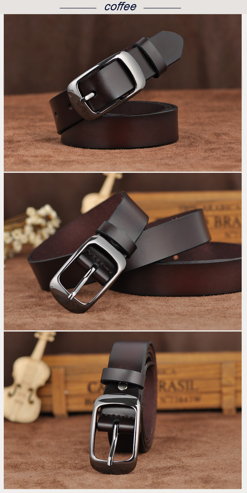 Free shipping Love strap Women genuine leather fashion all-match belt women's cowhide casual pants belt 8