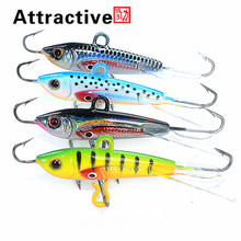 Attractive 4pcs 60mm 10g Fishing Lure winter Ice Fishing Hard Bait Minnow Pesca Tackle Isca Artificial Bait Crankbait Swimbait