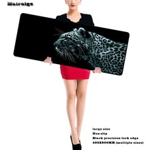 Leopard New Super Large Size 900*400 Speed Computer Gaming Animal Mouse Pad Locking Edge Table Mat Gamer for LOL CS Dota 2 Gamer