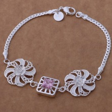 Beautiful fashion Silver plated charm Bracelet Gorgeous jewelry well made windmill /bdiajupa cpualhba AH205(China)