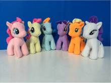 6pcs/lot 25CM Cute Rainbow Horse Plush Toy Candy Color Unicorn Stuffed Toys Doll For Kids Gifts High Quality