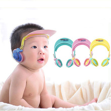 Newborns Children Shower Hat Baby Kids Shampoo Bath Cap Earmuffs Waterproof Cap adjustable Bath Ear Protection Cap