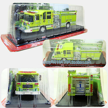 Brand New 1:64 Scale Alloy Diecast Fire Truck 1997 Pierce Quantum Pumper USA Cars Truck Model  For Kids Collection Gifts Toys