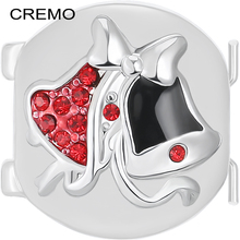 Cremo Christmas Small Bell Links Decoration Modular Charm Inventive Bracelet Jewelry Accessories Changeable Elastic Connector(China)
