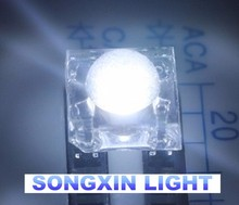 5000 pcs LED 5MM White Piranha Super Flux Leds 4 pin Dome Wide Angle Super Bright Light Lamp For Car Light High Quality Hot(China)