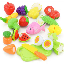 New Baby Toys DIY Plastic Kitchen Food Vegetable Fruit Cutting Toys Kids Pretend Play Educational Toy Cook Cosplay For Children