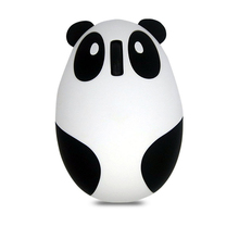 FFFAS 95*66*40mm 2.4G Cute Mini white pink Panda bluetooth wireless mouse Rechargeable silent usb ports for pc battery gift(China)