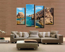 4 canyon seascape household adornment picture printed on the canvas wall art news frame number(China)