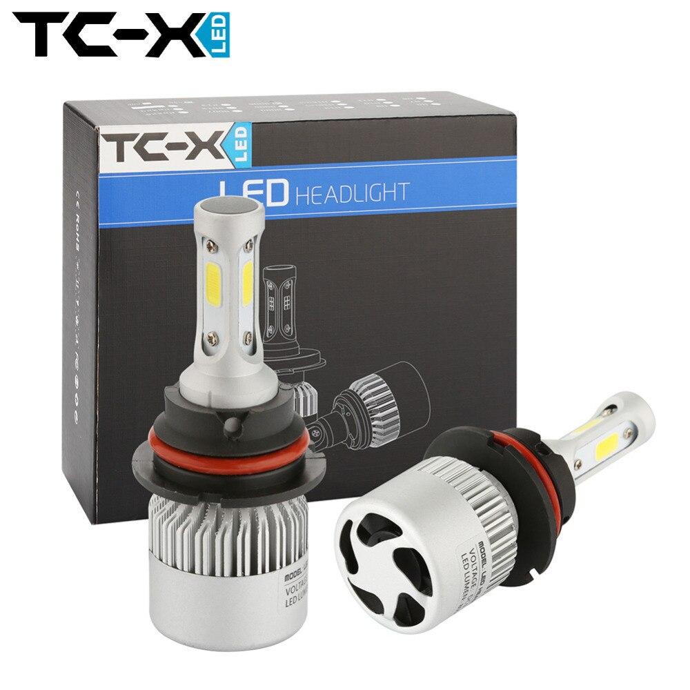 TC-X 2p 9004/HB1 Hi/Lo Beam High Power COB LED Chips Car Headlights Conversion Kit 72W8000LM All In One LED Headlights Fog Light<br><br>Aliexpress