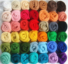36 Colors Merino Wool Fibre Roving For Needle Felting Hand Spinning DIY Fun Doll Needlework Raw Wool Felt poke 5g/bag(China)