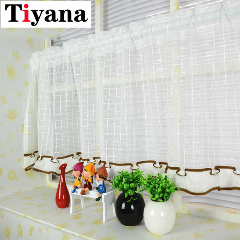Japanese window curtains short half pocket panel curtain for kitchen cabinet window door cafe wall decor screen drape SC013D2