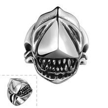 2015 Lureme Polishing Shark Tooth Ring 316L Stainless Steel Top Jewelry Amazing Design men's RingS Hot Seller(China)