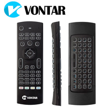 VONTAR MX3 Pro Backlight Wireless Keyboard 2.4G Wireless Remote Control IR Learning Fly Air Mouse For X92 X96 Android TV Box(China)