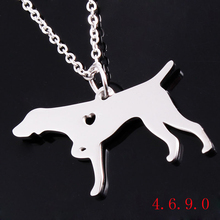 German shorthaired pointer silver gold Color dog necklaces pendant 316 stianless steel Female/Male Gift Jewelry Necklace
