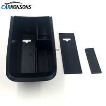 Carmonsons Car Organizer for Peugeot 2008 2014-2017 Central Armrest Storage Box Container Holder Tray Accessories Car Styling