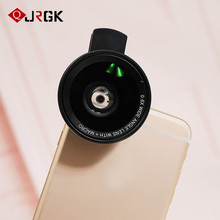 Buy JRGK 2 1 0.6X Wide Angle Phone Lens Clip 37mm Thread 10X Macro High Definition Mobile Phone fish eye for $7.74 in AliExpress store