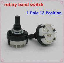 2pc High-quality RS26 1 Pole Position 12 Selectable Band Rotary Channel Selector Switch Single Deck Rotary Switch Band Selector(China)
